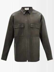 A.p.c. - Classique Straight Leg Cotton Twill Chinos - Mens - Navy
