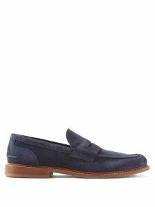 Balmain - Distressed Straight Leg Biker Jeans - Mens - Black