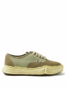 Balmain - Distressed Logo Embroidered Denim Jacket - Mens - Blue