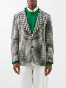 Palm Angels - Side Stripe Jersey Track Pants - Mens - Light Blue