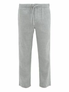 Frescobol Carioca - Sandro Linen Blend Chino Trousers - Mens - Grey