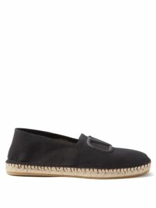 Off-white - Portrait Tapestry Tweed Wide Leg Trousers - Mens - Black Multi