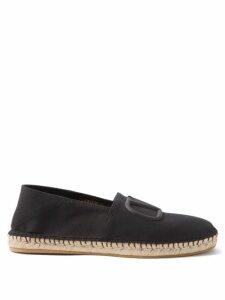 Off-white - Portrait Tapestry Tweed Wide Leg Trousers - Mens - Black Multi