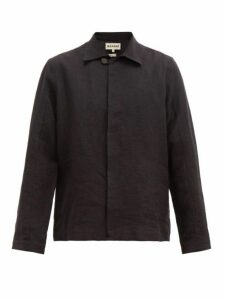 Marané - Button Down Linen Jacket - Mens - Black