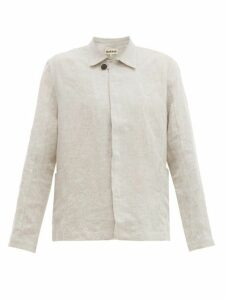 Marané - Single Breasted Linen Jacket - Mens - Beige