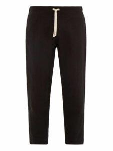 Marané - Linen Drawstring Trousers - Mens - Black
