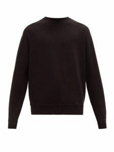 Handvaerk - Flex Cotton Blend Loop Back Jersey Sweatshirt - Mens - Black