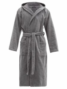 Schiesser - Hooded Cotton Terry Robe - Mens - Grey