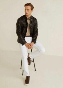 Zipper nappa biker jacket