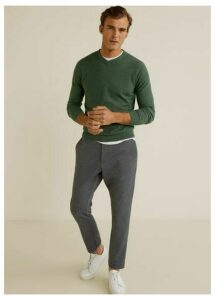 Structure cashmere cotton sweater