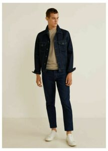 Tapered fit soft wash jeans
