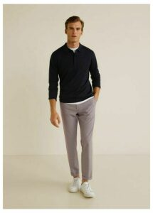Slim fit gingham check trousers