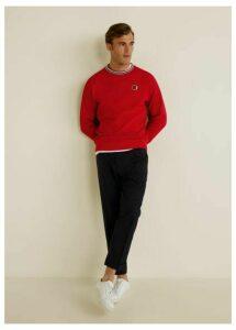 Contrasting stripes cotton sweatshirt