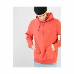 Stüssy Stock Logo Pullover Hoodie - Red (S)