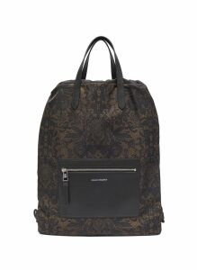 Skull lace print drawstring backpack