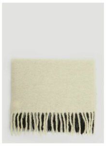 Acne Studios Kelow Dye Scarf in Cream size One Size