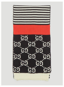 Gucci GG Jacquard Stripe Scarf in Navy size One Size