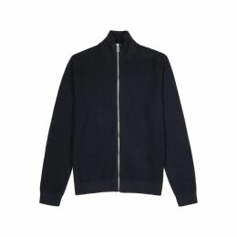 PS By Paul Smith Navy Waffle-knit Cotton Jacket