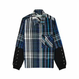 Off-White Blue Brushed Flannel Jacket