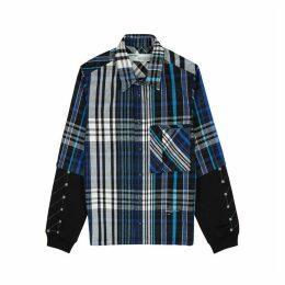 Off-White Blue Brushed Flannel Jacket