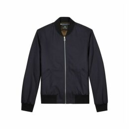 PS By Paul Smith Navy Stretch-wool Bomber Jacket