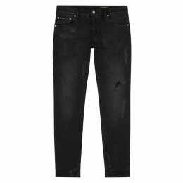Dolce & Gabbana Black Distressed Skinny Jeans