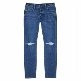 Neuw Iggy Blue Distressed Skinny Jeans