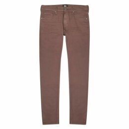 Paige Federal Burgundy Slim-leg Jeans