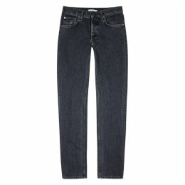 Helmut Lang Grey Faded Straight-leg Jeans