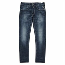 Replay Grover Dark-blue Straight-leg Jeans