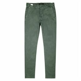 Replay Green Cotton-blend Chinos