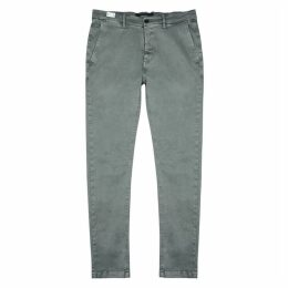 Replay Grey Cotton-blend Chinos