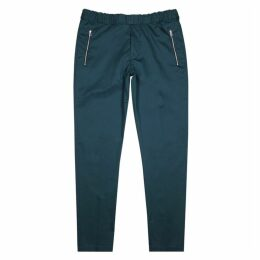 PS By Paul Smith Teal Cotton-blend Trousers