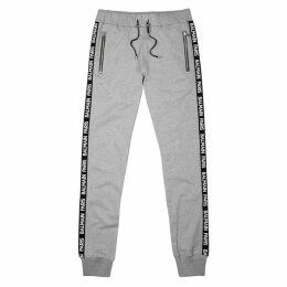 Balmain Grey Logo-jacquard Jersey Sweatpants