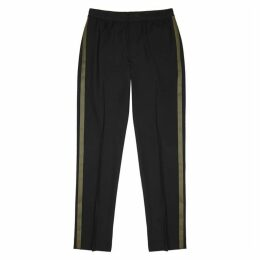 Helmut Lang Black Stretch-wool Trousers