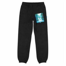 Off-White Waterfall Printed Black Cotton Sweatpants