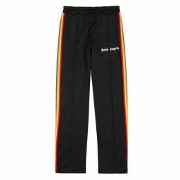 Palm Angels Black Striped Jersey Sweatpants