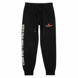 Palm Angels Black Printed Cotton-jersey Sweatpants