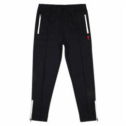 AMI Navy Cotton-blend Sweatpants