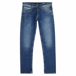 Replay Grover Blue Straight Leg Jeans