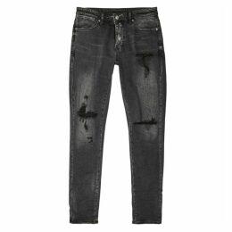 Ksubi Van Winkle Angst Thrash Grey Denim Jeans