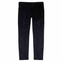 Paul Smith Navy Cotton-blend Corded Trousers