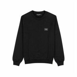 Dolce & Gabbana Black Cotton Sweatshirt