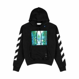Off-White Waterfall Printed Black Cotton Sweatshirt