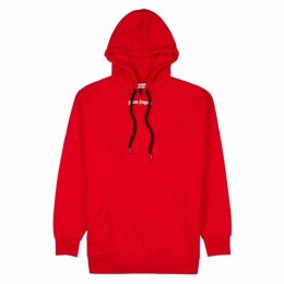 Palm Angels Red Logo Cotton Sweatshirt