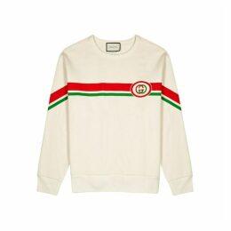 Gucci Cream Printed Cotton Sweatshirt