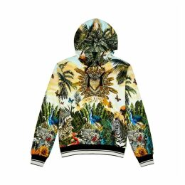Dolce & Gabbana Printed Hooded Cotton Sweatshirt