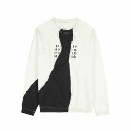 Maison Margiela Off-white Logo-print Cotton Sweatshirt