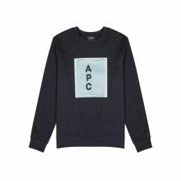 A.P.C. Navy Cotton-jersey Sweatshirt