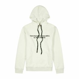 Palm Angels Off-white Printed Cotton Sweatshirt